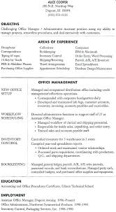 office manager resume template exles of office manager resumes