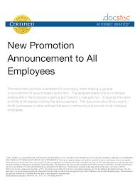 Announcement Letter Of Appointment Of Employee To New Position Congratulations Email Template Template