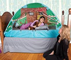 the bed tent amazon com pacific play tents kids tree house bed tent playhouse