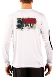 North Carolina Flag History Men U0027s Tackle Up North Carolina Performance Fishing Shirts Tackle