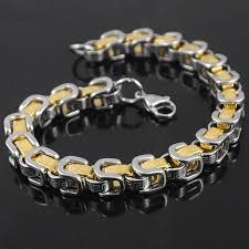 links style bracelet images Amumiu 24cm greek key men bracelet byzantine new style stainless jpg