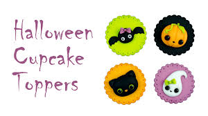 halloween cupcake toppers tutorial youtube