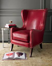 Red Armchair Remarkable Red Wingback Chair With Red Leather Chair Massoud At