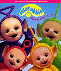 happy teletubbies scholastic 9780590983334 amazon