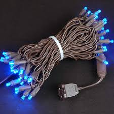 brown wire wide angle blue 50 bulb led christmas lights sets 11