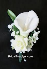 calla boutonniere ivory white calla wedding flowers boutonniere
