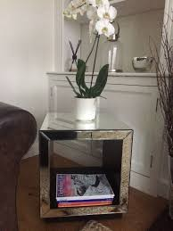 cube mirror side table john lewis mirrored cube side table excellent condition 40 in