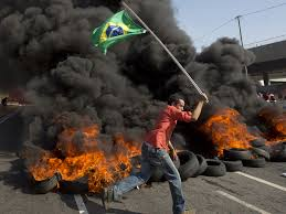 Flag Burning Protest Brazil Hit By Widespread Protests In Rio De Janeiro And Sao Paulo