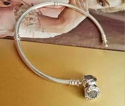 pandora bracelet clasps images Authentic pandora bracelet with golden center clasp 590741cz jpg