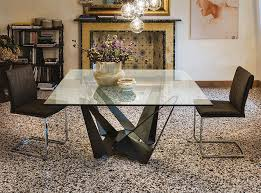 Glass Top Square Dining Table Skorpio Square Dining Table By Cattelan Italia 4 128 00