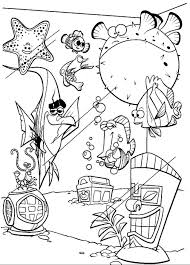 finding nemo coloring pages nemo and fish tank gang coloringstar