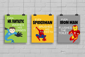Super Hero Bathroom Set Superhero Bathroom Decor