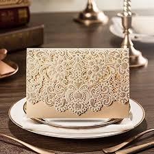Engraved Wedding Invitations Personalized Wedding Invitations Amazon Com
