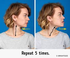 flattering hairstyles for double chins or sagging necks the 7 most effective exercises to get rid of a double chin