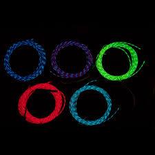fiber light el wires chasing wires