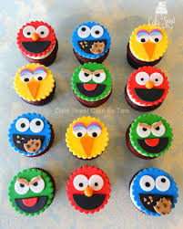 sesame cupcake toppers by taleenshop on etsy 24 99