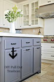 kitchen island with trash bin home decoration ideas kitchen cabinet garbage can