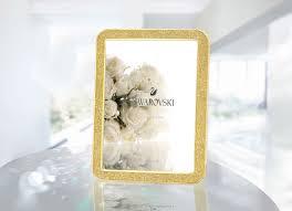 swarovski home decor swarovski minera gold tone picture frame