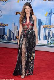 marisa tomei my cousin vinny jumpsuit marisa tomei looks stunning at the spider homecoming premiere