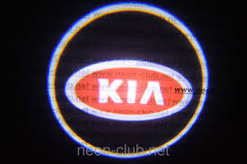 kia logo kia led car door lights neon logo