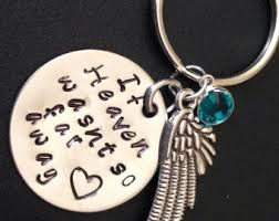 in memory of keychains memory keychain etsy