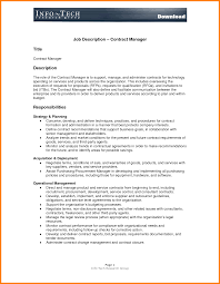 Contract Administration Job Description Job Requirements Template Ledger Paper