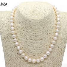 freshwater pearls necklace images 9 10 mm real natural pearl necklace for women freshwater pearl jewelry jpeg