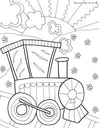 transportation coloring pages doodle art alley