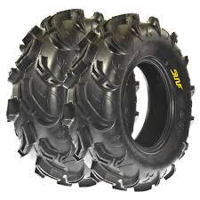 set pair of 2 sunf 25x10 12 25x10x12 atv utv mud tires 6 ply a048