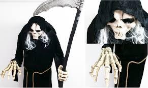 Grim Reaper Halloween Costume Grim Reaper Watch Talk U0026 Move Scary U0026 Creepy