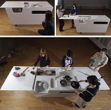 Kitchen Islands For Small Spaces Fold Out Furniture Combined Kitchen Island U0026 Work Table
