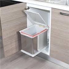 poubelle inox cuisine poubelle de cuisine encastrable en inox dravyn 16 litres throughout