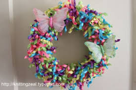ribbon wreaths knitting zeal crafting a ribbon wreath