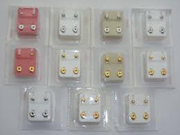 ear piercing studs studex brand new ear piercing studs 2mm 4mm 6mm heart