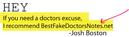 doctors excuse using fake forms for work u0026