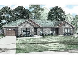 Duplex With Garage Plans Duplex House Plans 1 Story Multi Family Plan 025m 0087 At
