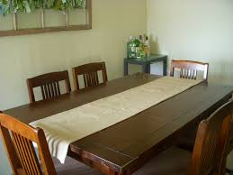 Dining Room Table Runners by Decorating Awesome Burlap Table Runner In Tan Theme On Wooden
