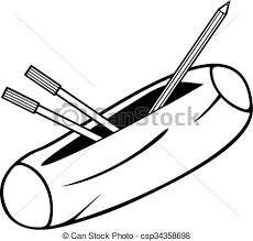 pencil box pencil box pencil eps vectors search clip