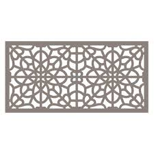 tuffbilt 4 ft x 2 ft greige fretwork polymer decorative screen
