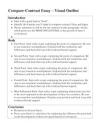 exle biography speech outline outline for compare contrast essay compare and contrast essay