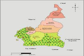 map of cameroon map of cameroon and its regions tree icons represent cameroon s
