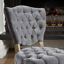 Dining Room Enchanting Tufted Dining Chair For Home Furniture - Grey fabric dining room chairs