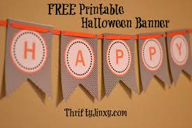 free printable halloween banner thrifty jinxy