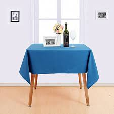 tablecloth for 54x54 table amazon com deconovo solid oblonge table cloth high density oxford