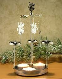 chimes candle spinner snowflakes and