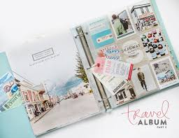 travel photo album pocket scrapbook layout the page photo pocket