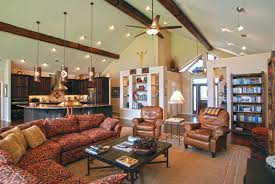 country living room lighting custom home interiors