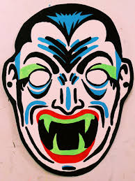 dracula vintage halloween mask painting by insert name youidiot on
