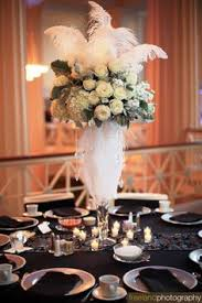 Wedding Feathers Centerpieces by Feather Centerpieces Glamorous Vintage Wedding Centerpiece With