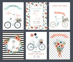 collection of 6 card templates wedding marriage save